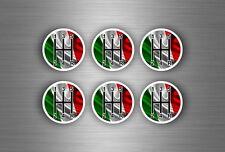 6x Autocollant sticker voiture pommeau vitesse drapeau italie boitier levier