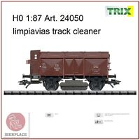 H0 escala 1:87 ho maqueta trenes model vagon Trix 24050 limpiavias track cleaner