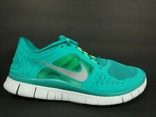 Nike Free Run 3 Mens Size 9 Running Shoes New Green Reflective Silver 510642 300