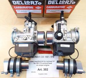 Honda CB160 175 SLOPER engine/VERT. head Cappellini manifold + 24mm Dellorto-302