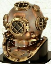 Antique Copper Scuba Diving US Navy Mark Deep Maritime Divers Diving Helmet SCA