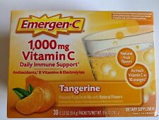Emergen-C Tangerine Drink Mix 30 Packets (Vitamin C 1000 MG) New Sealed Box