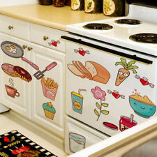Removable Waterproof Kitchen Tile Decor Wall Stickers Decal Mural Food Pattern