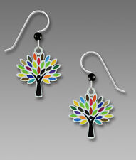 Multi Color Leaf Tree EARRINGS by Sienna Sky STERLING Leaves USA  - Gift Boxed