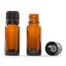 10 ml (1/3 oz) Amber Glass Essential Oil Bottle with European Dropper Cap 4 Pack