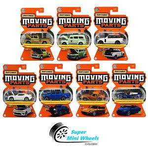 Matchbox 1:64 Moving Parts 2021 L Case 7 Cars Set
