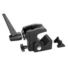 Multi-function Super Clamp Studio Lighting Clip + 1/4 3/8 Stud Spigot & Handle