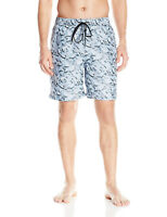 NEW MENS CALVIN KLEIN FOILED PYRAMIDS DRAWSTRING VOLLEY TRUNKS BOARD SHORTS L