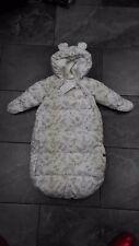 NWT H & M INFANT BUNTING BAG SNOWSUIT CREAM ANIMALS 2-6M