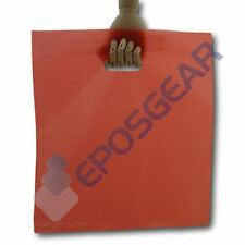 More details for 50 extra large red punch out handle gift fashion party plastic carrier bags
