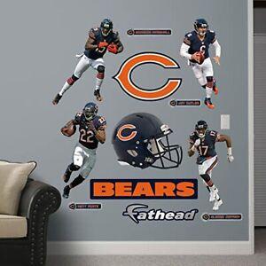Chicago Bears Power pack Fathead Jay Cutler Matt Forte logo Helmet all EXTRAS