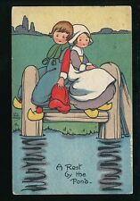 DUTCH KIDDIES Artist HGC Marsh Lambert used c1918 PPC Davis series  #553