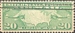 Scott #C9 US 1927 20 Cent Airmail Stamp