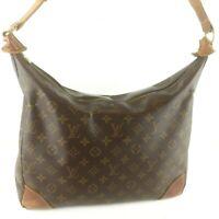 Auth LOUIS VUITTON BOULOGNE GM Shoulder Bag Purse Monogram M51260 Brown