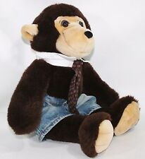 Plush Animal Works Monkey with Build a Bear Jeans Stuffed Animal 19""