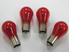 4 X PHILIPS ORIGINAL RED BRAKE STOP/TAIL 12495 PR21/5W 780 LIGHT BULB CAR FORD