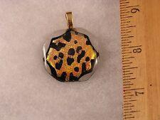 Leopard Spots Animal Print Glass Pendant GA16 Fred Flintstone Look! Awesome!