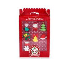 Christmas Theme Cute Elk Snowman Christmas Tree Santa Claus Rubber Eraser Set