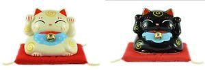 "3"" Fat Maneki Neko Cat. Left and Right Paw Lucky Fortune Cat."