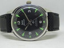 17.J PARA SHOCK HMT GAWAN BLACK COLOR NICE DIAL STYLISH FIGURE HAND WINDING