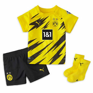 Puma Infant & Baby Borussia Dortmund Home Baby Kit 2020-21 Football Soccer