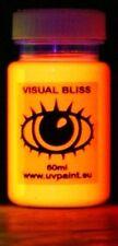 60ml Ultra Bright UV Paint 8 Vivid Colours U.V Neon Rave Art Glow U-V Luminous