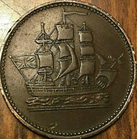 PEI SHIPS COLONIES AND COMMERCE HALFPENNY TOKEN - SHC-26 LEES 38 13+M