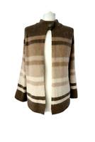 EVANS Women's Cardigan Cream Mix Angora Lambs Wool Blend Smart Casual Size 18