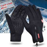 US Winter Thermal Sports Full Finger Gloves Neoprene Waterproof Ski Touchscreen