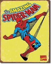 Spiderman Retro Tin Metal Sign Wall Art Home Decor Plaque Plate Marvel Dc Comics
