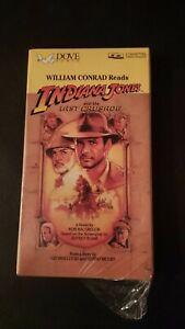 Vintage Sealed INDIANA JONES & The Last Crusade 2x Audio Cassette William Conrad