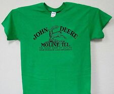 "John Deere,""Vintage Old Logo"" Green Retro T-Shirt,S,M,L,XL,2X,3X ,4X,T-130Kg"
