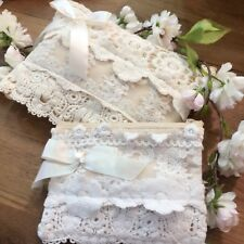 Beautiful White Lace Front Pouch (TWO SIZES)
