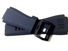 Rubber 24mm Strap Band & Black Buckle, For Bell & Ross Watch BR 01 03 BR01 BR03