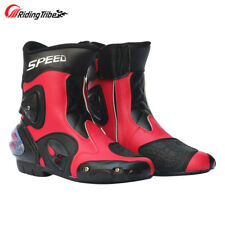 Men Motorcycle Racing Boots Protective Gear Anti Collision Street Leather Shoes