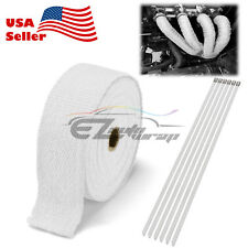 "White Exhaust Pipe Insulation Thermal Heat Wrap 2"" x 50' Motorcycle Header"
