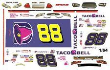 #88 Dale Earnhardt jr Taco Bell 1/64th HO Scale Slot Car Waterslide Decals