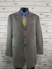 Armani Collezioni Blazer Jacket Sport Coat 44 L Made in Italy Brown Wool Linen