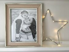 Rustic Cream Photo Frame Large Shabby Chic Design Standing Gift Pictures