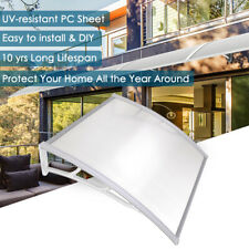 "40x40"" Outdoor Window Door Awning Canopy Sun Shade UV Rain Snow Cover Shelter"