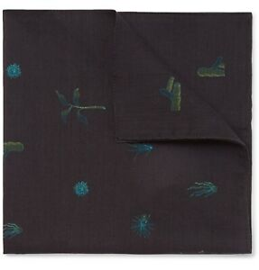 NWT Paul Smith Ocean Plant Pocket Square/Handkerchief, Made in Italy.