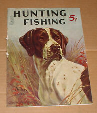 11/1936 Hunting and Fishing Magazine   German Shorthaired Pointer