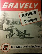 Gravely 1958 L Li Ls Walk-Behind Lawn Garden Tractor Color Sales Brochure Manual