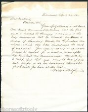 1862 LETTER with mention of MOHAWK ~ TRIAL DEVOTED TO CHANCERY ~ PACKARD ~ WI