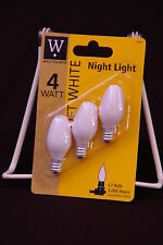 Westpointe,10 - 3Packs, 4W/C7 120v, White Night Light Bulb, Candelabra Base