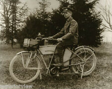 Curtiss Motorcycle Mail Delivery Kiev Wisconsin Mailman On Curtiss Motorcycle