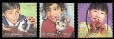 *FREE SHIP Children Pets Malaysia 2011 Cat Dog Rabbit Animal Child (stamp) MNH