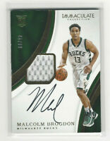2016-17 Panini Immaculate Rookie Patch Autograph #109  Malcolm Brogdon 48 of 99