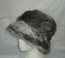 Ladies cloche hat SILVERY GREY WOLF FAUX FUR QUALITY FAILSWORTH