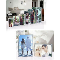 Magnetic Acrylic Transparent Clear Picture Photo Frame Holder Stand 5 Sizes